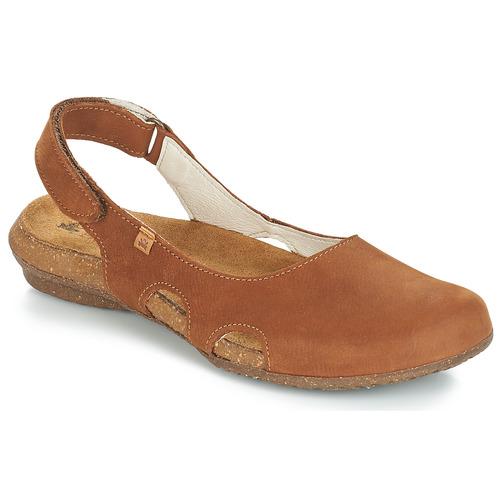 Schoenen Dames Sandalen / Open schoenen El Naturalista WAKATAUA Bruin