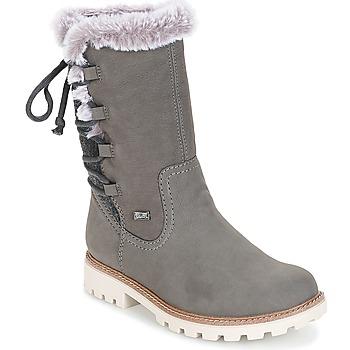 Schoenen Dames Hoge laarzen Rieker  Grijs