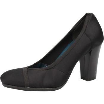 Schoenen Dames pumps Keys decolte nero tessuto AE601 Nero