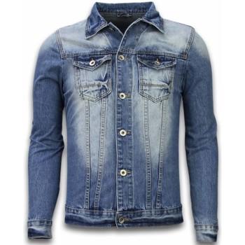 Textiel Heren Spijker jassen Tony Backer Spijkerjasje - Spijkerjasje Denim Jacket - Stonewashed Look - Blauw, Grijs