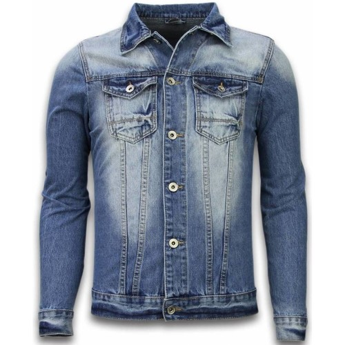 Textiel Heren Spijker jassen Tony Backer Spijkerjasje Spijkerjasje Denim Jacket Stoashed Look Blauw
