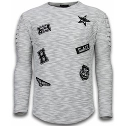 Textiel Heren Sweaters / Sweatshirts Enos Sweater Heren - Longsleeve - Long Fit  Sweater Exclusieve Sweate 35