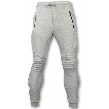 Textiel Heren Trainingsbroeken Enos Casual Joggingbroek - Buttons Joggingbroek - Grijs