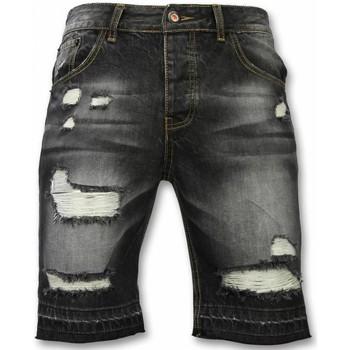 Textiel Heren Korte broeken / Bermuda's Enos Korte Broeken Heren - Slim Fit Ripped Shorts 38