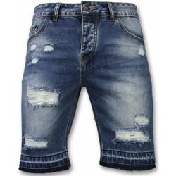 Textiel Heren Korte broeken / Bermuda's Enos Korte Broeken Heren - Slim Fit Ripped Shorts 19
