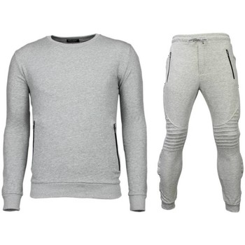 Textiel Heren Trainingspakken Enos Trainingspakken Basic - Buttons Joggingpak - Grijs