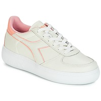 Schoenen Dames Lage sneakers Diadora B.ELITE L WIDE WN Ecru / Roze