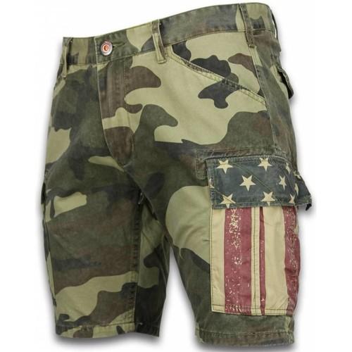 Heren Camouflage Korte Broek.Korte Broeken Heren Slim Fit Camouflage Shorts
