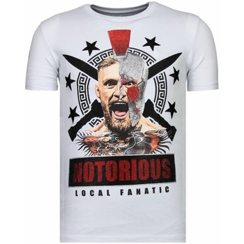 Textiel Heren T-shirts korte mouwen Local Fanatic Notorious Warrior - McGregor Rhinestone T-shirt 1
