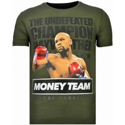 Textiel Heren T-shirts korte mouwen Local Fanatic Money Team Champ - Rhinestone T-shirt Groen