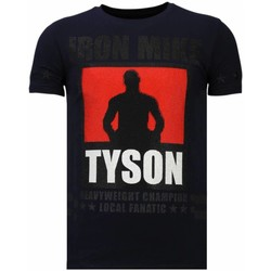 Textiel Heren T-shirts korte mouwen Local Fanatic Iron  Mike Tyson - Rhinestone T-shirt Blauw