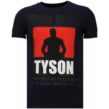 Textiel Heren T-shirts korte mouwen Local Fanatic Iron  Mike Tyson - Rhinestone T-shirt