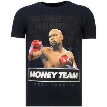 Textiel Heren T-shirts korte mouwen Local Fanatic Money Team Champ - Rhinestone T-shirt Blauw