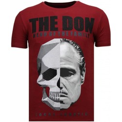 Textiel Heren T-shirts korte mouwen Local Fanatic The Don Skull - Rhinestone T-shirt