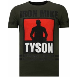 Textiel Heren T-shirts korte mouwen Local Fanatic Iron Mike Tyson Rhinestone Groen