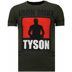 Textiel Heren T-shirts korte mouwen Local Fanatic Iron  Mike Tyson - Rhinestone T-shirt Groen