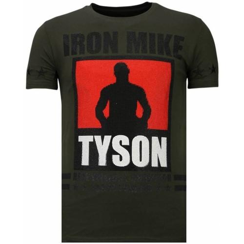 Textiel Heren T-shirts korte mouwen Local Fanatic Iron Mike Tyson Rhinestone Groen