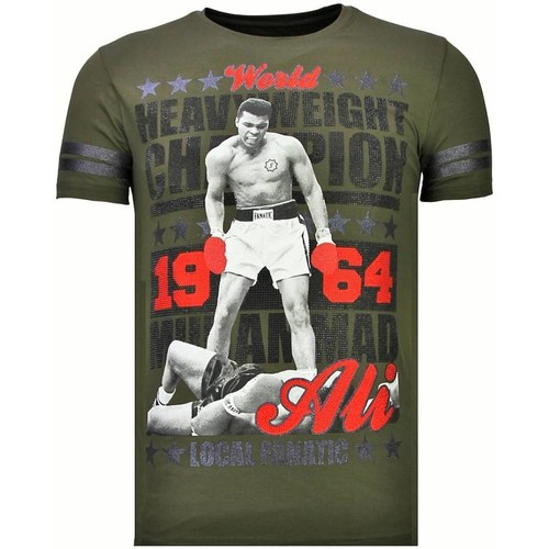 Textiel Heren T-shirts korte mouwen Local Fanatic Greatest Of All Time Rhinestone Groen