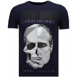Textiel Heren T-shirts korte mouwen Local Fanatic The Don Skull - Rhinestone T-shirt