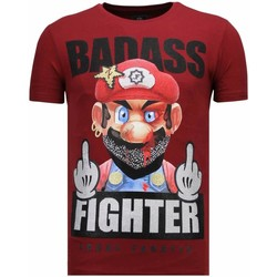 Textiel Heren T-shirts korte mouwen Local Fanatic Fight Club Mario - Rhinestone T-shirt