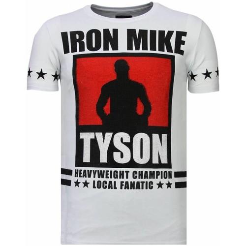Textiel Heren T-shirts korte mouwen Local Fanatic Iron  Mike Tyson - Rhinestone T-shirt Wit