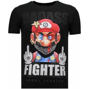 Textiel Heren T-shirts korte mouwen Local Fanatic Fight Club Mario - Rhinestone T-shirt 38
