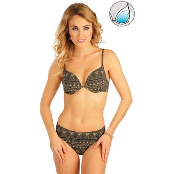 Textiel Dames Bikinibroekjes- en tops Litex Mix & Match Bikinitop met push-up cups. Groen
