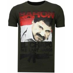 Textiel Heren T-shirts korte mouwen Local Fanatic Cocaine Cowboy - Rhinestone T-shirt Groen