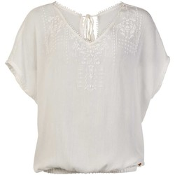 Textiel Dames Tops / Blousjes Protest TOP  SEASHELL MUMBY BLOUSE 1615181 BLANCO