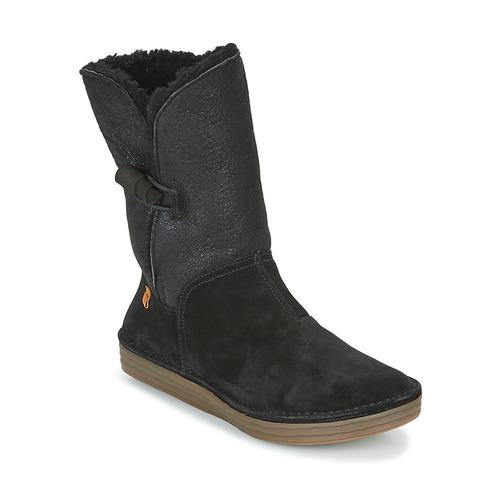 Schoenen Dames Laarzen El Naturalista RICE FIELD Zwart