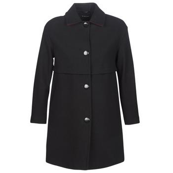 Textiel Dames Mantel jassen Sisley FAREDA Zwart