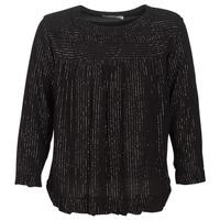 Textiel Dames Tops / Blousjes See U Soon IRAZU Zwart / Goud