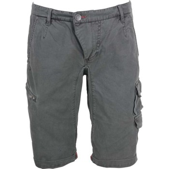 Textiel Heren Korte broeken / Bermuda's No Excess Short, garm.dyed twill, stretch, si dark steel Grijs