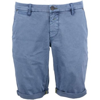Textiel Heren Korte broeken / Bermuda's No Excess Short, garm dyed satin, stretch dk blue Blauw