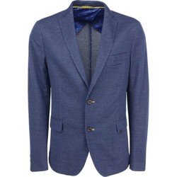 Textiel Heren Jasjes / Blazers No Excess Blazer woven fully lined night Blauw