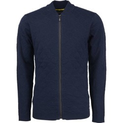 Textiel Heren Vesten / Cardigans No Excess Pullover, full zip bomber cardigan, night Blauw