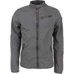 Textiel Heren Jasjes / Blazers No Excess Jacket, short fit, motor style, ful dark steel Grijs