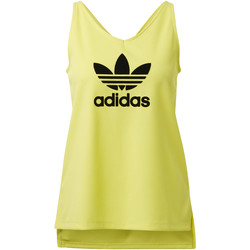 Textiel Dames Mouwloze tops adidas Originals Fashion League Rib Tanktop Geel