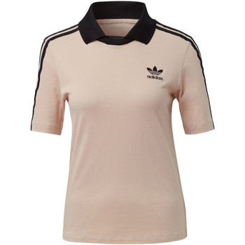 Textiel Dames T-shirts korte mouwen adidas Originals Fashion League Polo-T-shirt pink