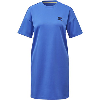 Textiel Dames Jurken adidas Originals Fashion League Rib T-shirt Jurk blue