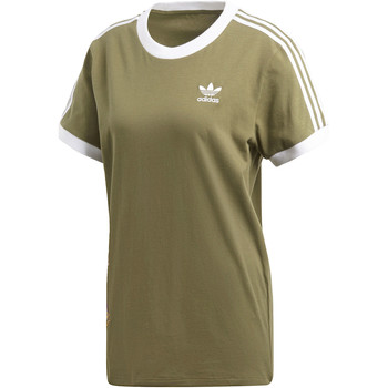 Textiel Dames T-shirts korte mouwen adidas Originals Graphic T-shirt Groen