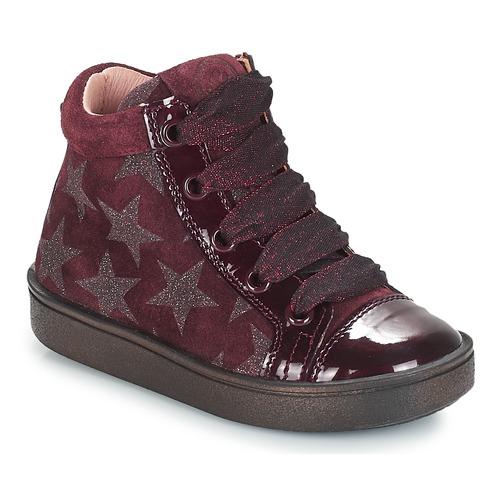 Schoenen Meisjes Hoge sneakers Acebo's MASSA Bordeau