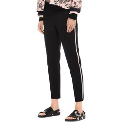 Textiel Dames Broeken / Pantalons Maison Scotch TAILORED STRETCH PANTS WITH KNITTED Negro