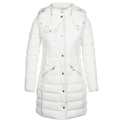 Textiel Dames Dons gevoerde jassen Desigual INGA Wit