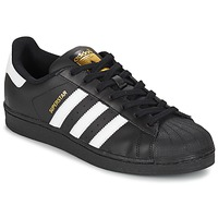 Schoenen Lage sneakers adidas Originals SUPERSTAR FOUNDATION Wit / Zwart