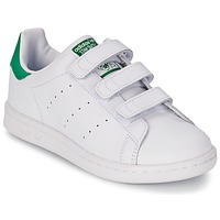 Schoenen Jongens Lage sneakers adidas Originals STAN SMITH CF C Wit / Groen
