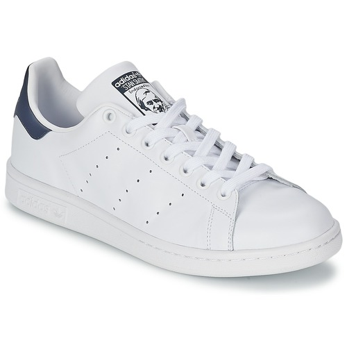 57741256cf3 adidas Originals STAN SMITH Wit / Blauw - Gratis levering | Spartoo ...