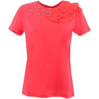 Textiel Dames T-shirts korte mouwen Twin Set JS82RS Rood
