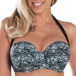 Textiel Dames Bikinibroekjes- en tops Curvy Kate CS4941 BLK/WHI Zwart