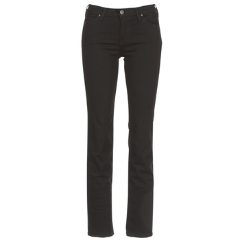 Textiel Dames Straight jeans Lee MARION STRAIGHT Zwart